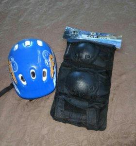 Роликовая защита и каска для ребенка maXcitY