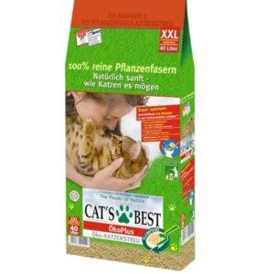 Наполнитель Cat's Best 40л (17,2 кг)