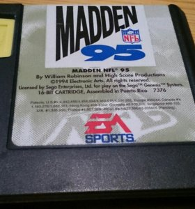 Sega Genesis Madden NFL 95