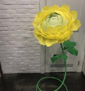 Ростовой цветок из бумаги