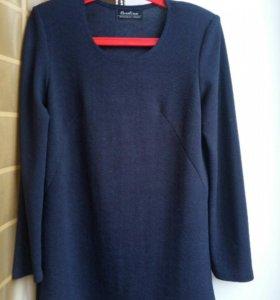 Туника блузка синяя