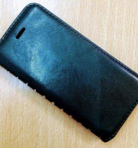 Чехол Книжка для IPhone 5/5s Кожаный чёрный