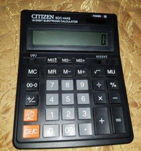 Калькулятор Citizen SDC-444S (черный)