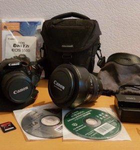 Canon D550 + проф.объектив Canon EF 24-105 mm