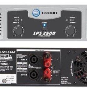 Усилитель crown lps 2500 стерео 725Вт/ 4Ом