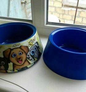 Новые миски для собак 1,2 литра