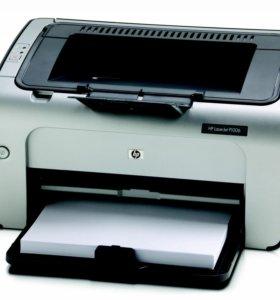 Лазерный принтер HP LJ P1006 с полным картриджем