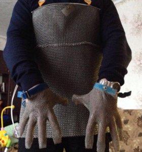 Кольчужный фартук и перчатки