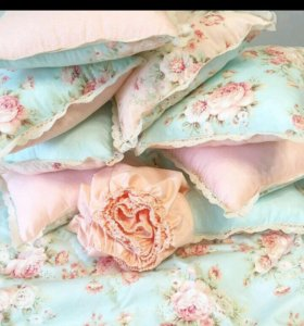 Подушки бортики, одеяло, простыня на резинке