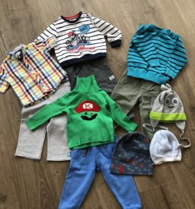 Вещи на мальчика 80-86 размера