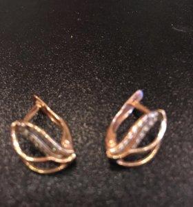 Золотые серьги сережки