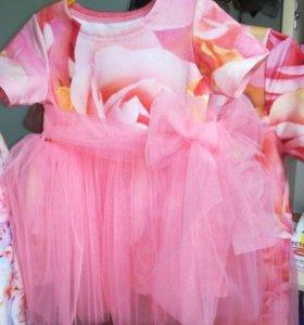 Платье на годик и повязка для принцессы