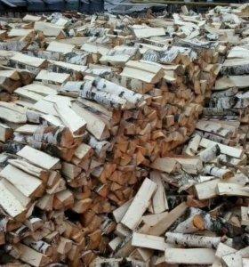 Дрова в мешках для камина березовые