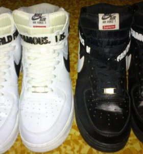 Nike supreme air force Black and White