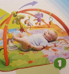 Игровой развивающий коврик для младенцев