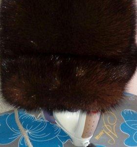 Норковая шапка(хорошее состояние)