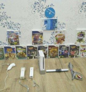 Nintendo wii + диски и все остальное.