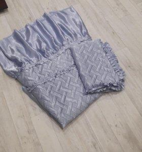 Покрывало+наволочка на кровать