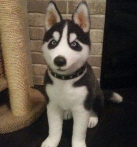Собака Хаски игрушка