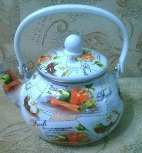 Эмалированный Чайник 2 литра-Новый