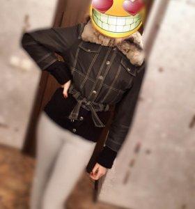 Куртка с мехом шиншиллы