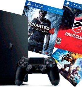 Sony Playstation 4 аренда, диски с играми