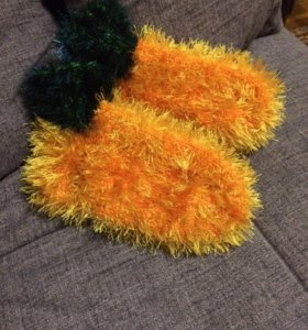 Носки вязаные травка