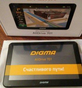GPS-навигатор DIGMA AllDrive 701 новый