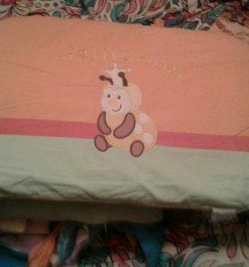 Продаю бортики в кроватку для новорожденных