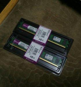 Оперативная память DDR2 800 на 2GB 2шт