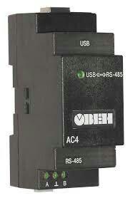 Преобразователь интерфейсов usb/rs -485 овен ас 4