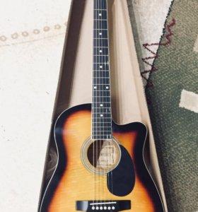 Гитара эстрадная с чехлом новая