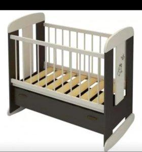 Кроватка с выдв.ящиком и матрасом