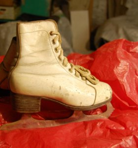коньки с ботинками кожаные