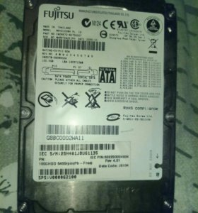 Жёсткий диск для ноутбука 2.5 Sata Fujitsu 100Gb