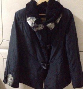 Куртка с отделкой из кролика