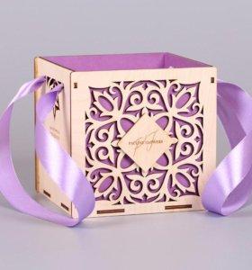 Подарочная коробка для цветов на заказ