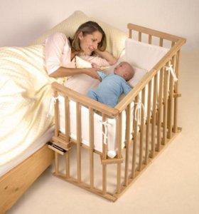 Приставная кроватка для новорожденных 4 в 1