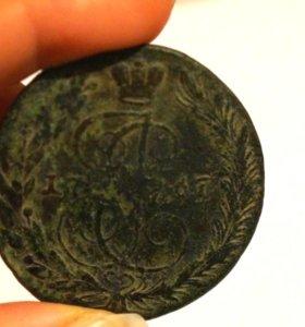 5 копеек 1767 года в хорошем состоянии