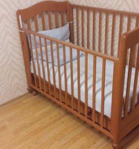 детская кровать Ванечка с матрасомфабрики Гандылян