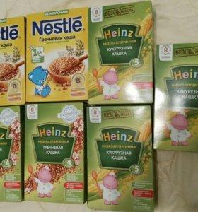 Каши детские Heinz и Nestle