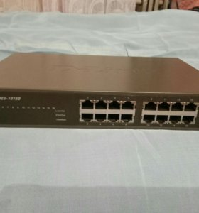 Коммутатор(switch)D-link DES-1016D