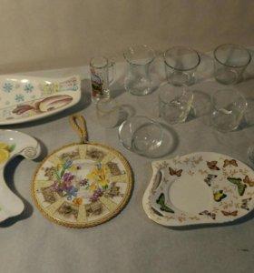 Посуда стекло, керамика, фарфор