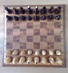 Шахматы турнирные из массива дерева на магнитах