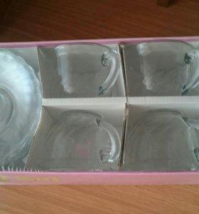 Новый Чайный набор 6 персон,упакован