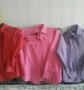 Рубашки мужские р М и L (цена за 3 шт)
