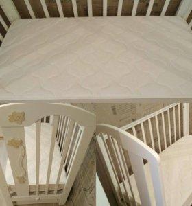 Детская кровать для новорожденного+матрас