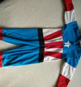 Пижама-костюм флисовый капитан Америка