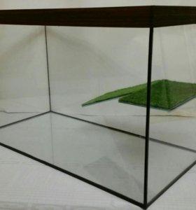 Аквариум 120литров  с мостиком для черепахи