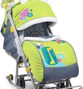 Санки коляска Ника 7.2 детям